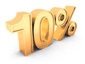 Sale text 10 % — Stock Photo