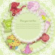 Beautiful card with set for baby — Stok Vektör #10035744