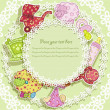 Beautiful card with set for baby — стоковый вектор #10035744
