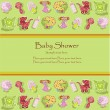 Beautiful card with a set for the baby — Stockvectorbeeld