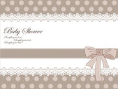 Baby shower card — Vettoriale Stock