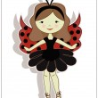 Royalty-Free Stock Vector Image: Pretty cute girl ladybug
