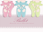 Ballet shoes, Vector illustration — Vettoriale Stock