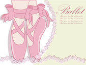 Ballet shoes, Vector illustration — Vector de stock