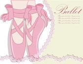 Ballettschuhe, vektor-illustration — Stockvektor