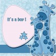 Baby shower card - Stok Vektr