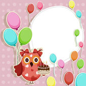 Beautiful vector card with Happy Birthday — Vecteur