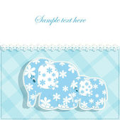 Baby card with elephants — Stock vektor