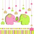 Funny elephants — Vector de stock #10476238