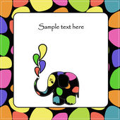 Fun colorful elephant — Stock Vector