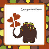 Fun colorful elephant — Stock Vector