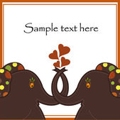 Sample Cards with two elephants — Stock Vector