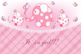 Beautiful childrens card for the girl — Stockvector