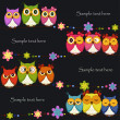 Funny Vector owl on a black background — Stockvektor  #10543200