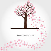 Flowering tree vector — Vettoriale Stock