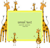 Giraffes — Stock Vector