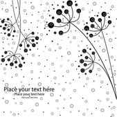 It is black white flowers — Stock Vector