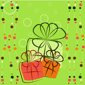 Three colourful gifts — Stock Vector