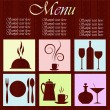 The menu restaurant — Image vectorielle