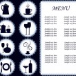 Menu restaurant — Stockvector #8990564