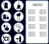 The menu restaurant — Stock Vector
