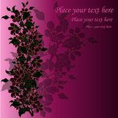 Black blossoming branch — Stock Vector