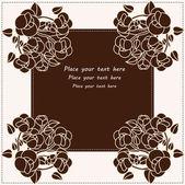 Tarjeta flor hermosa — Vector de stock
