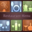 The sample of the menu for restaurant — Stock Vector