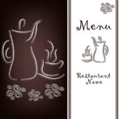 The sample of the menu of restaurant — Vector de stock