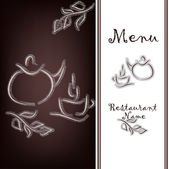 The sample of the menu of restaurant — Stock Vector