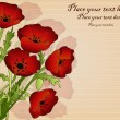 Beautiful card with poppies — Image vectorielle