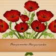 Beautiful card with poppies — Stock Vector