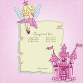 リトル プリンセスのベクトル カード — ストックベクタ