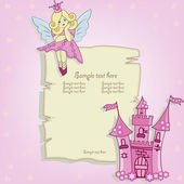 Vector card for little princess — Vettoriale Stock