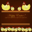 Beautiful easter card — Imagen vectorial