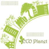 Zielona planeta ekologiczne — Wektor stockowy