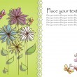 Beautiful flower card — Vector de stock