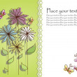 Beautiful flower card — ストックベクター #9968157