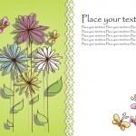 carta di bel fiore — Vettoriale Stock