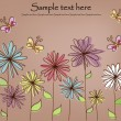 Beautiful flower card — Stockvectorbeeld