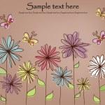 Beautiful flower card — Stock Vector