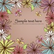Beautiful flower card — Stock vektor