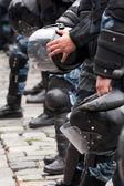Police helmet — Stock Photo