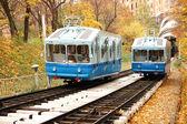 Railway funicular in Kiev — Stock Photo