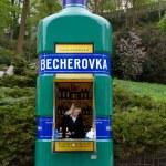 Czech Street famous shop Becherovka . — Stock Photo #8171928