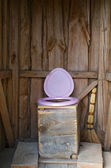 Wooden toilet — Stock fotografie