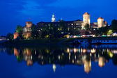 Wawel Castle at night — Stock Photo