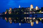 Wawel Castle at night — Stock Photo