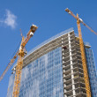 Stock Photo: Cranes and building construction