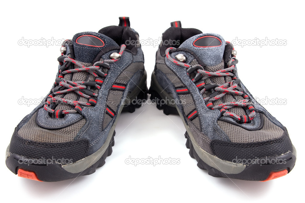 Sporting shoes isolated on a white  Stock Photo #8266603